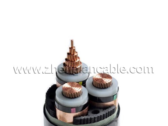 Three Core Unarmored MV Cable